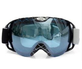 Skibril  luxe lens zwart grijs evo frame zwart X type 6