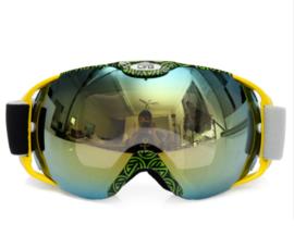 Skibril  luxe lens geel groen evo frame geel X type 2