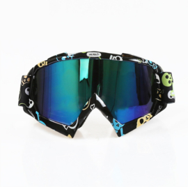 Skibril  luxe lens blauw  evo frame zwart N type 1