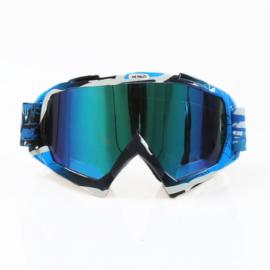 Skibril  luxe lens blauw  evo frame zwart / blauw N type 12