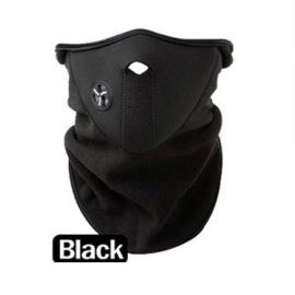 Ski sjaal / snowboard sjaal met luchtopening en beschermd goed tegen de kou Zwart