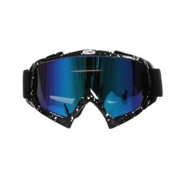 Skibril  luxe lens blauw  evo frame zwart N type 14