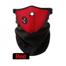 Ski sjaal / snowboard sjaal met luchtopening en beschermd goed tegen de kou Rood