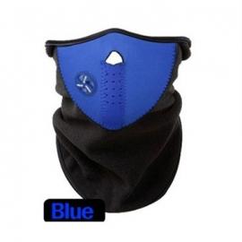 Ski sjaal / snowboard sjaal met luchtopening en beschermd goed tegen de kou Blauw