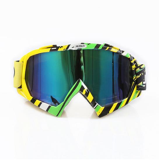 Skibril  luxe lens blauw  evo frame geel N type 6
