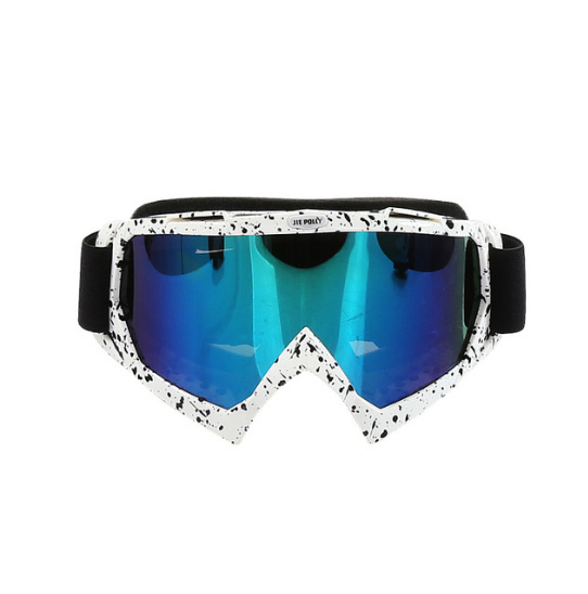 Skibril  luxe lens blauw  evo frame wit N type 15