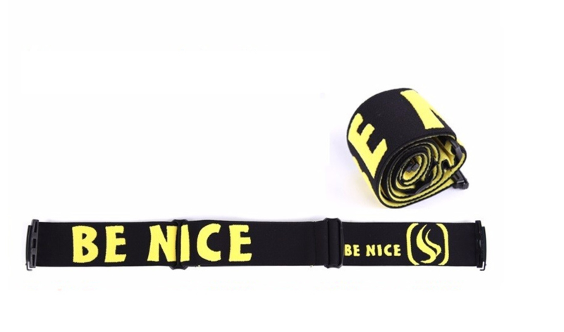 Losse skibril band zwart geel AX & F type