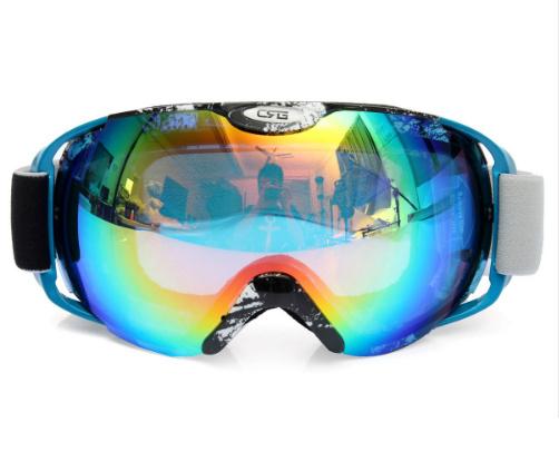 Skibril  luxe lens blauw groen evo frame blauw X type 3