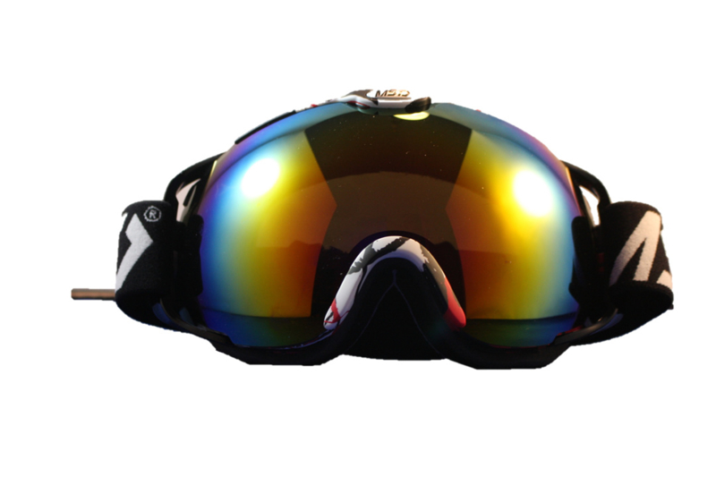 Skibril luxe lens glans rood evo frame rood / wit X type 10