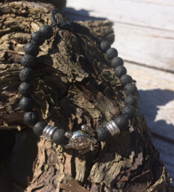 Lava stone Armband - Turtle