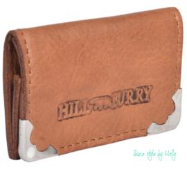Hill Burry Vouwbeursje - Mini Brown