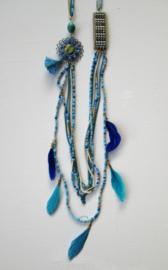Ketting Multi Bead - Turquoise