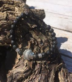 Lava stone Armband - Shell