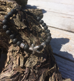 Lava stone Armband - Star