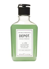 DEPOT  406 Transparent Shaving Gel (brushless)