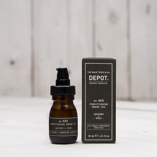 Depot Beard Oil Leather&Wood 30ml
