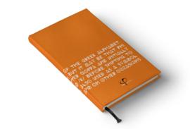 PHI Notes hardback - Orange