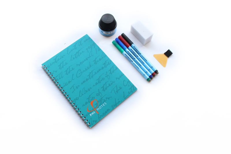 PHI Notes ringband, 4 kleuren pennen, gum  & navulstation