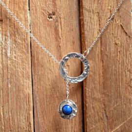 Zilveren ketting met Lapis Lazuli