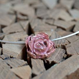 Koperen roos hanger