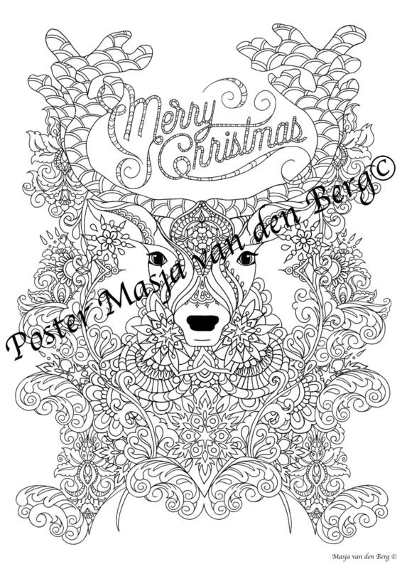 Kerst Poster! (Hert) (50 cm bij 70 cm)