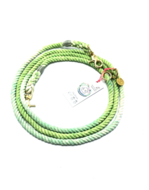 KIWI 🥝 COTTON ROPE DOG LEASH, SIZE M