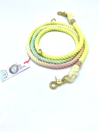 DOG ROPE LEASH CANDYFLOSS COTTON SIZE M
