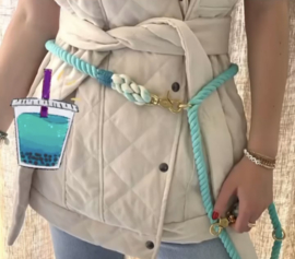 TURQUOISE 🧊 SIZE S or M ADJUSTABLE DOG ROPE LEASH  2M