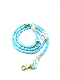 TURQUOISE COTTON ROPE DOG LEASHES  SIZE M ADJUSTABLE DOG ROPE LEASH  2M