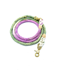 SIZE M | PURPLE/GREEN DOG LEASH | COTTON | 2M