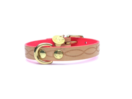 FLOORTJE | NEON PINK LEATHER DOG COLLAR
