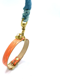MILKY ORANGE 🍊 COOL DOG COLLAR | LEATHER ALL SIZES