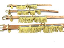 SUMMER leren gele unieke halsband
