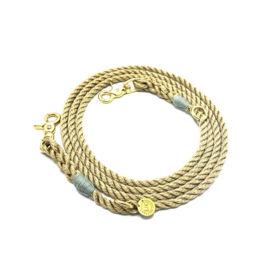 SIZE M GOLDEN NYLON LEASH 2M