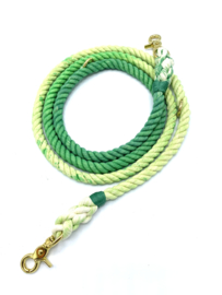GRASSHOPPER  COTTON ROPE  DOG LEASH, ADJUSTABLE SIZE M