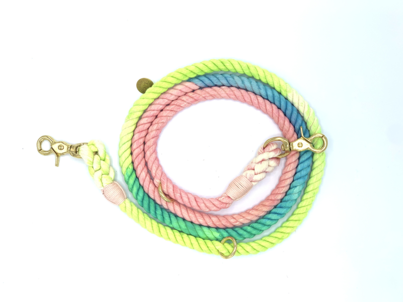 BARK IN STYLE  ROPE DOG LEASH LOLLIPOP S OR M