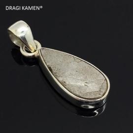 DRAGI KAMEN® - 925 zilveren hanger met Meteoriet uit Gibeon Namibië. Code: MH001