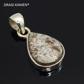 DRAGI KAMEN® - 925 zilveren hanger met Meteoriet uit Gibeon Namibië. Code: MH006