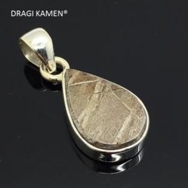 DRAGI KAMEN® - 925 zilveren hanger met Meteoriet uit Gibeon Namibië. Code: MH007