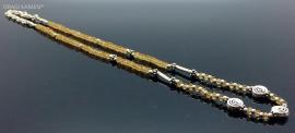925/000 zilveren collier met facet geslepen citrien