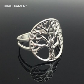 925/000 zilveren Tree of life ring. Ringmaat 18.5