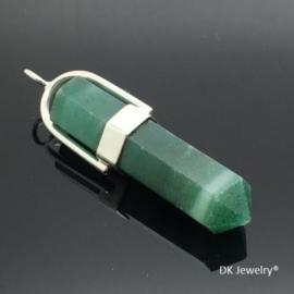 DRAGI KAMEN® - 925 zilveren hanger met geslepen groene Aventurijn.
