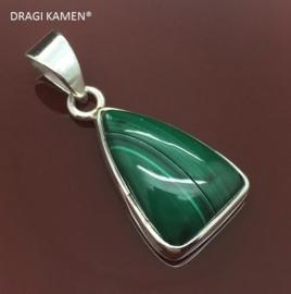DRAGI KAMEN® - Malachiet hanger in 925 zilveren zetting. Code: MAH03727