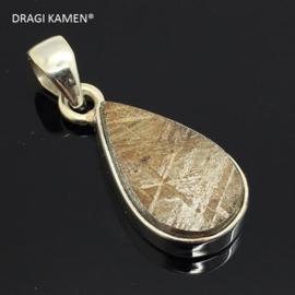 DRAGI KAMEN® - 925 zilveren hanger met Meteoriet uit Gibeon Namibië. Code: MH004