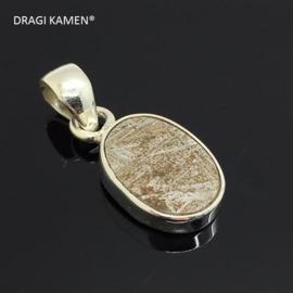 DRAGI KAMEN® - 925 zilveren hanger met Meteoriet uit Gibeon Namibië. Code: MH002