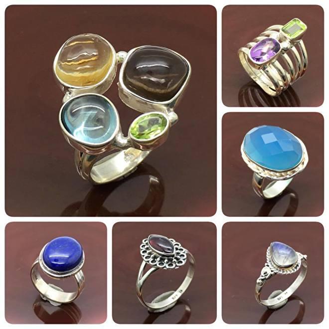 925 zilveren ringen met edelstenen