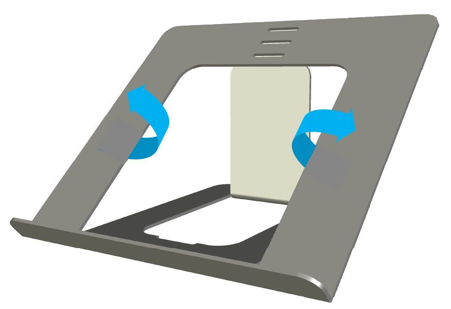OviStand laptop stand by Ovilli made from ultra light weight aluminum is ideal for MAcBook and laptop cooling