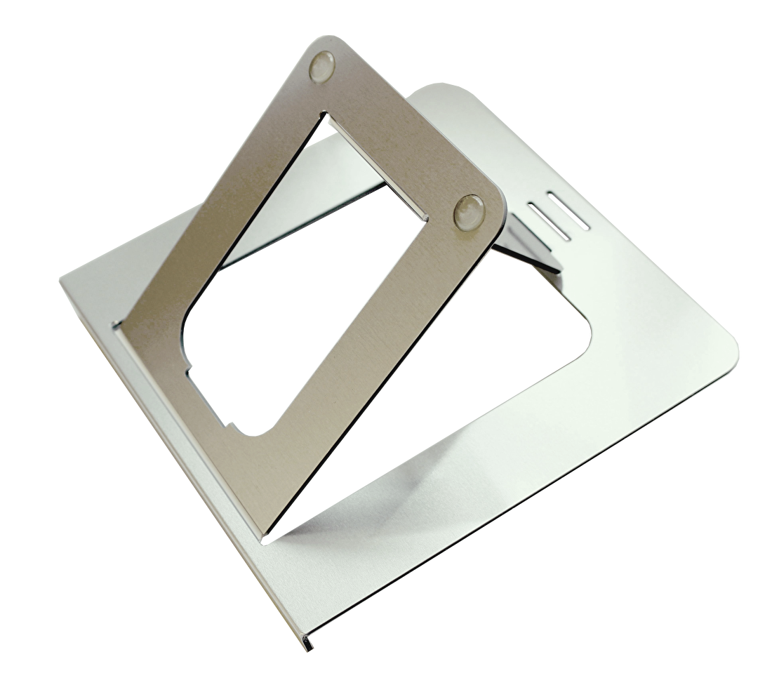 OviStand laptop stand by Ovilli has 2 siliconebumpers to keep your stand  firm and stable on table or desk