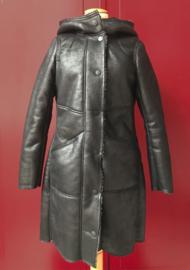 60s Skai Leather Coat in Black