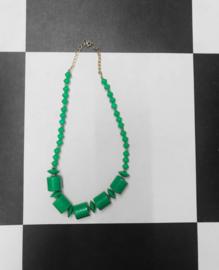 Vintage Kralen ketting - Groen